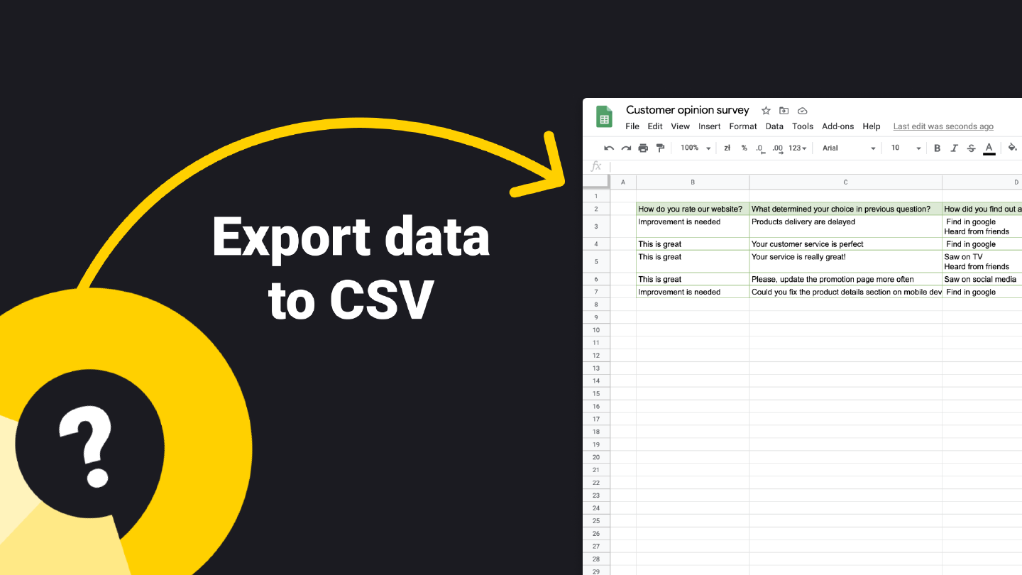 Export data to CSV