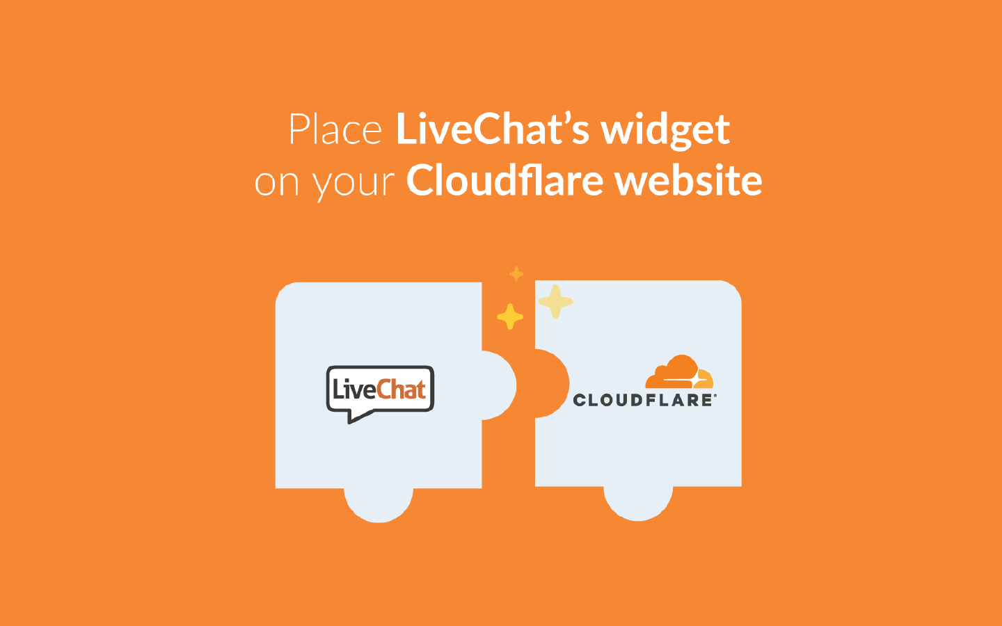 LiveChat's integration for Cloudflare
