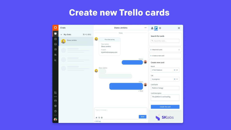 Create new Trello cards