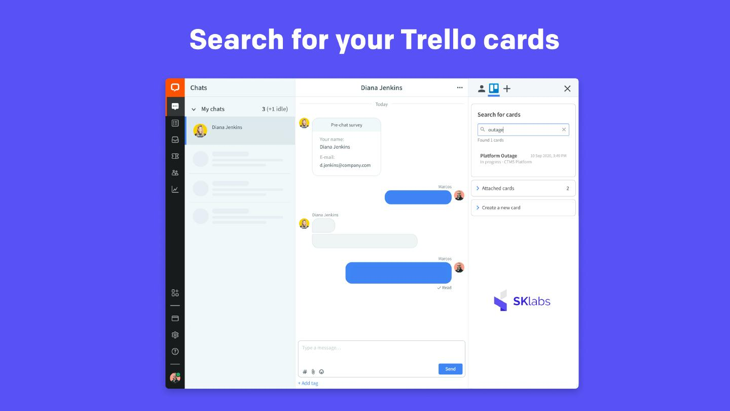 Search for your Trello cards