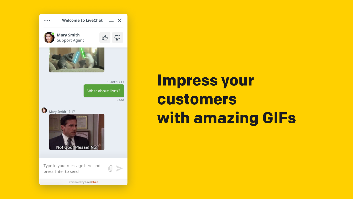 Impress your customers with amazing GIFs
