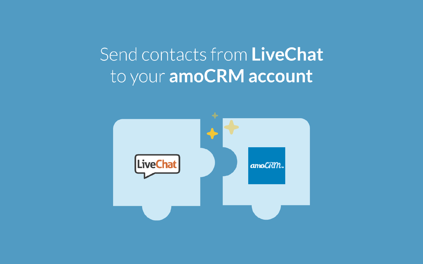 LiveChat integrates with amoCRM