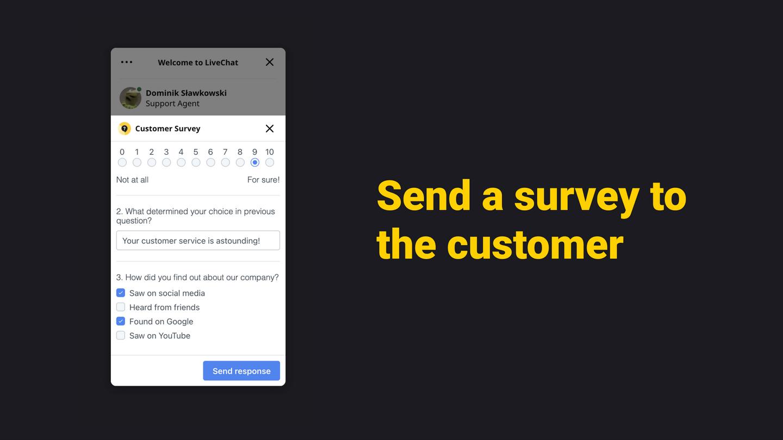 Survey via chat