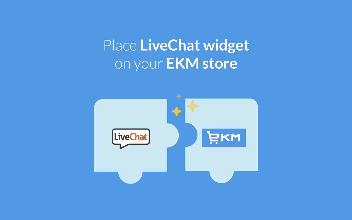 LiveChat integrates with EKM