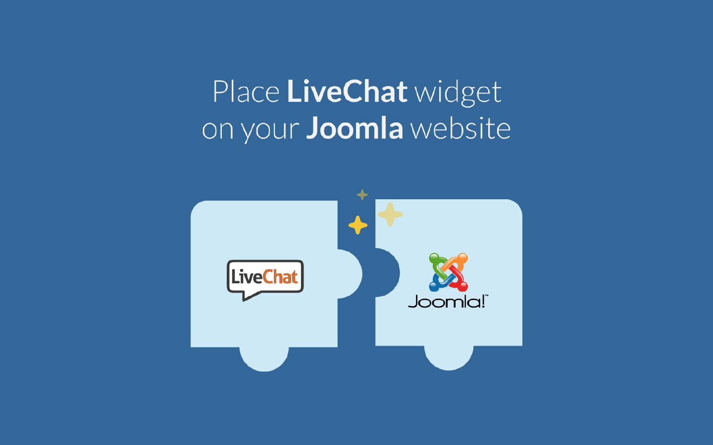 LiveChat integrates with Joomla