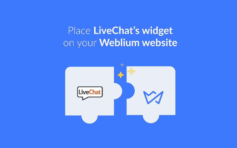 Add live chat to Weblium