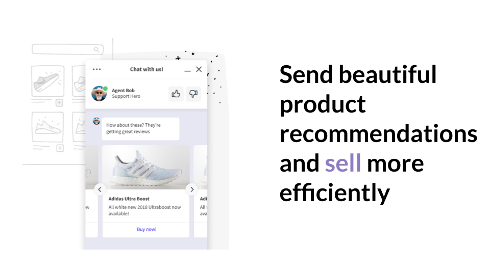 Beautifully designed product recommendations
