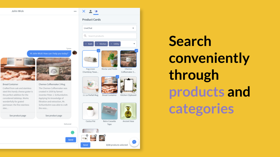 Easy search through products
