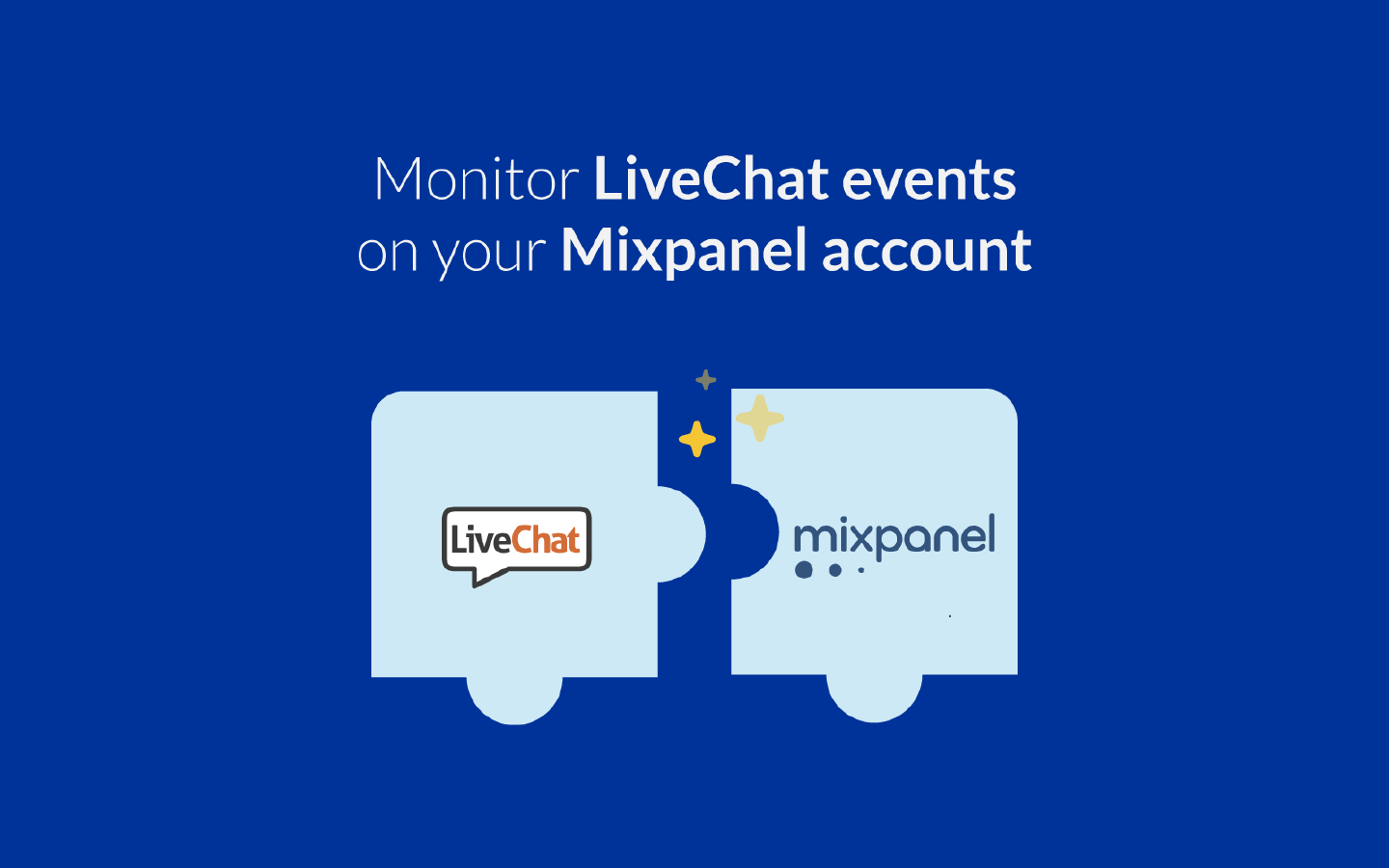 LiveChat integrates with Mixpanel