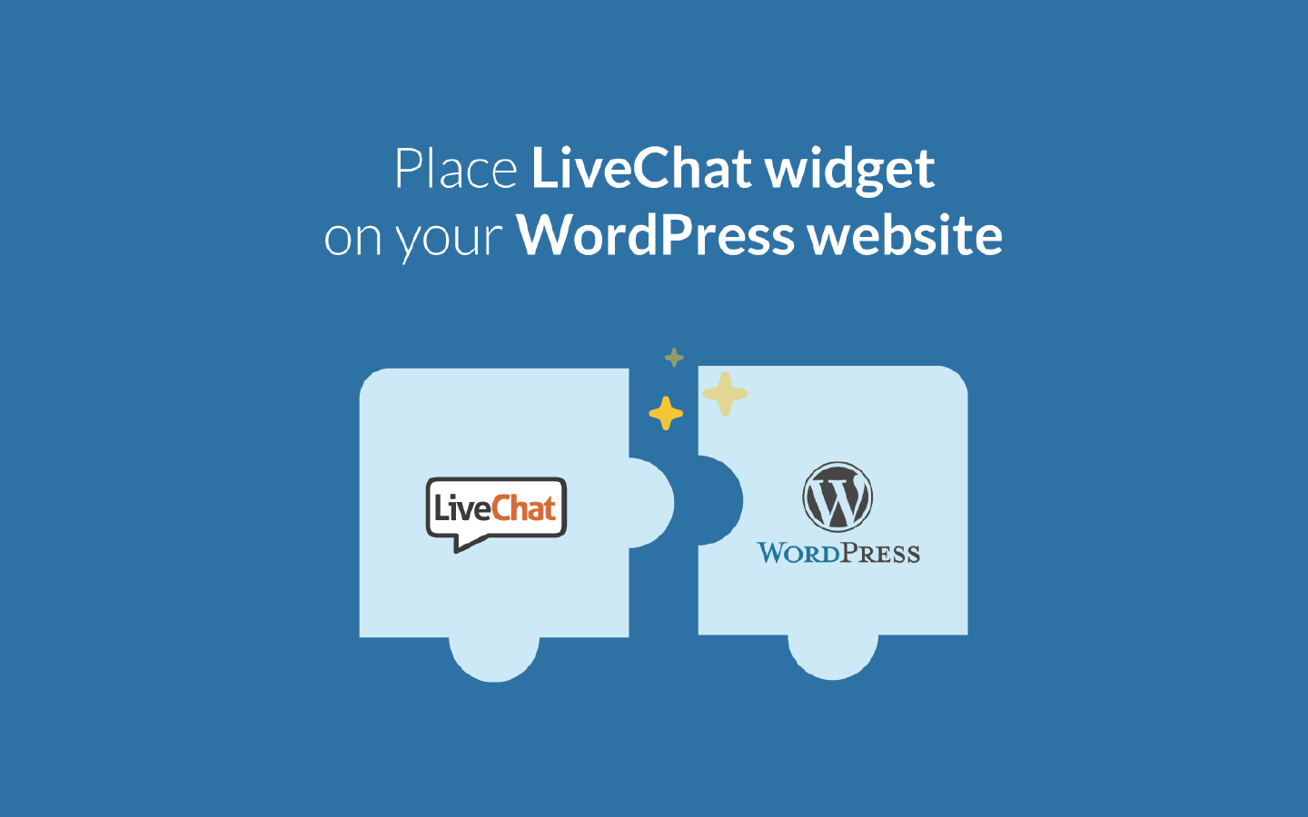 LiveChat integrates with Wordpress